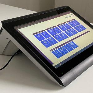 Colormetrics C1400 Touchkasse im Pultformat (Seitenansicht vorne-links)