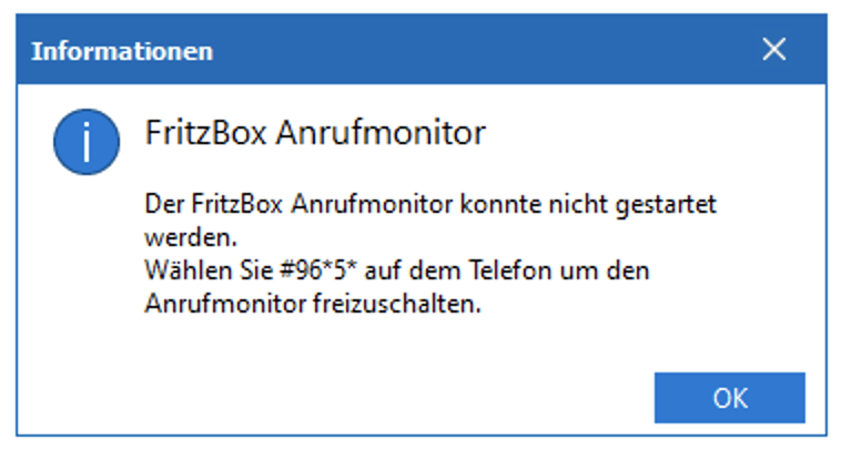 Anrufmonitor in der FritzBox aktivieren