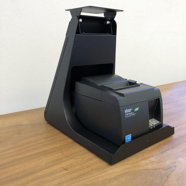 Glancetron Smart Stand mit STAR TSP143 (Ansicht von schräg links)