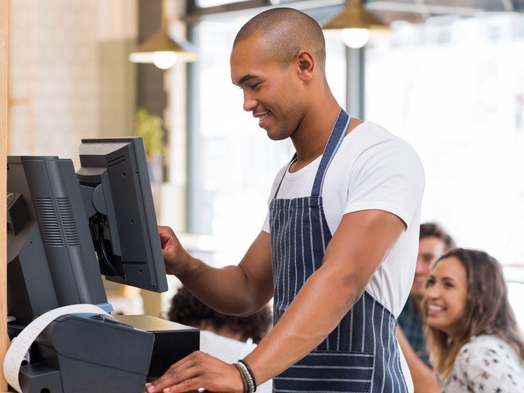 WinOrder Kasse: Kellner boniert Bestelliung