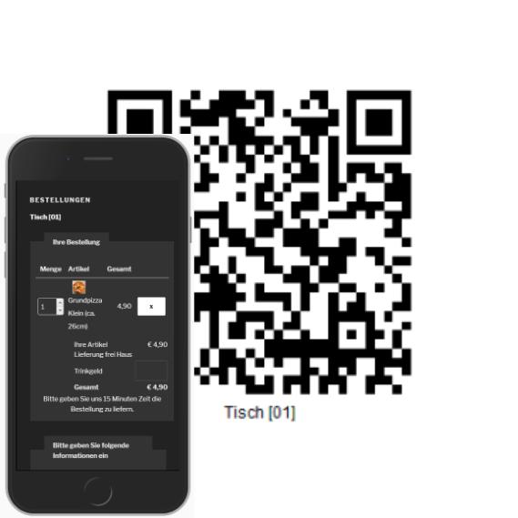 Mobiles Funkbonieren - QR-Code mit Smartphone scannen und direkt bestellen