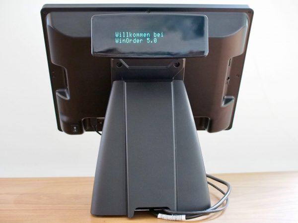 Colormetrics P1000 mit optionalem Kundendisplay (Ansicht von hinten)