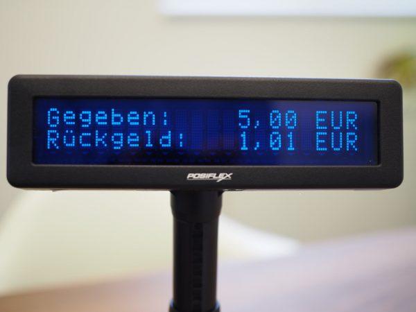 Posiflex POS Kundendisplay mit Rückgeld-Anzeige