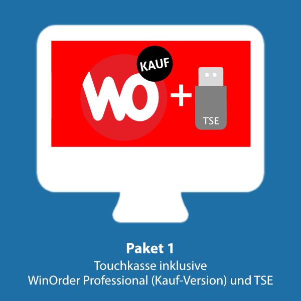 Paket 1: WinOrder Kauf-Version inkl. Touchkasse und TSE