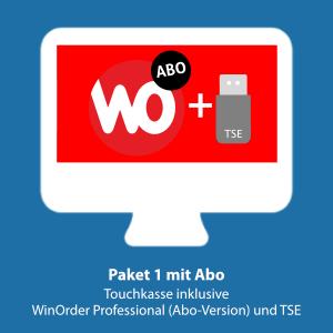 Paket 1: WinOrder (ABO-Version) inkl. Touchkasse und TSE