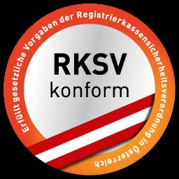 RKSV-konform (Registrierkassensicherheitsverordnung für Österreich)