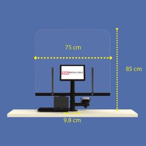 Virenschutz für POS und Kasenplatz All-In-ONE (75 x 85cm)