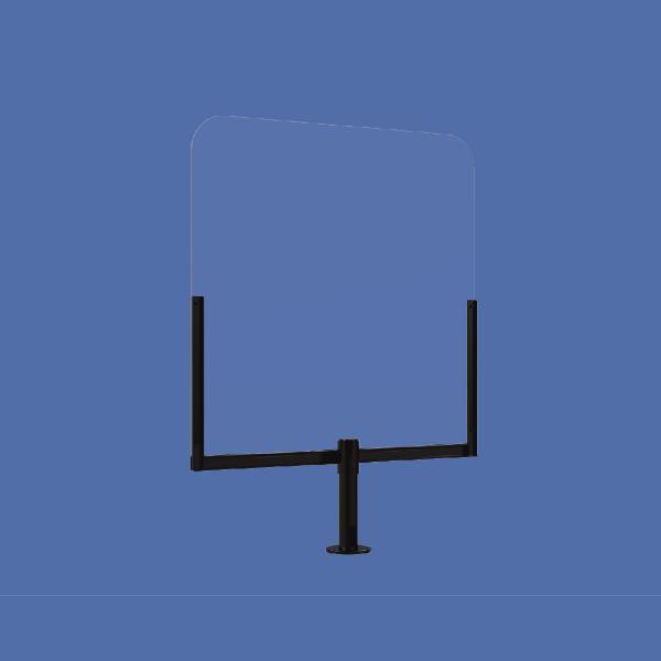 Schutz für POS und Verkaufsplatz aus Acrylglas (75x85cm)