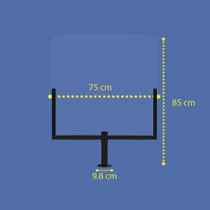 Kassenschutz aus Acrylglas (75x85cm)