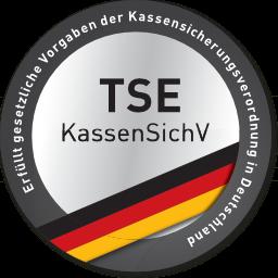 Unterstützt die Verwendung einer zertifizierten TSE gem. Kassensicherungsverordnung (Deutschland)