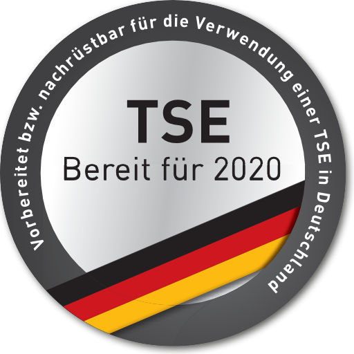 Vorbereitet bzw. nachrüstbar für die Verwendung einer zertifizierten TSE in Deutschland