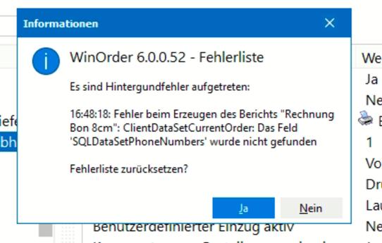 "Fehler: Feld ""SQLDataSetPhoneNumbers"" nicht gefunden"